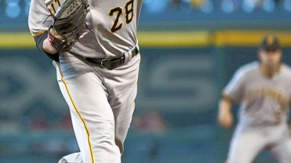 Pirates starter Paul Maholm  blanked the Astros for eight innings.