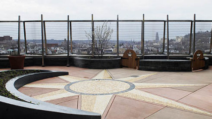 The Howard Hanna Healing Garden, which provides views of Downtown and surrounding neighborhoods, offers families and patients plenty of spots for private moments or story time.