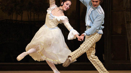 Alexandra Ansanelli and Ivan Putrov perform &quot;A Month In The Country&quot; at the Royal Opera House in London last year.