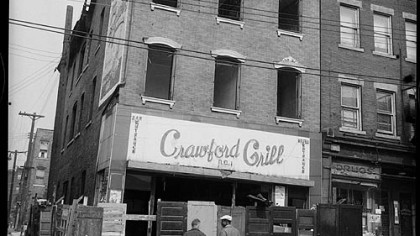 The Crawford Grill, Hill District being razed.