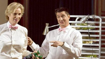 "Jane Lynch and Ken Marino star in ""Party Down"" on Starz."