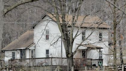 The farmhouse where Kenzie Marie Houk was killed on Friday in Lawrence County.