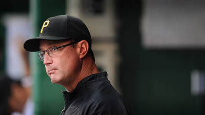 Pirates manager John Russell, &quot;Unfortunately, we can&#039;t do anything about the 17 years.&quot;