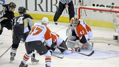 Bill Guerin's winning goal in overtime of Game 2 vs. the Flyers April 17 gave him his first chapter of Penguins postseason lore. The goal also was the 30th of his long playoff history.