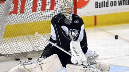 Marc-Andre Fleury will be back in goal tonight for Game 6 at Mellon Arena.