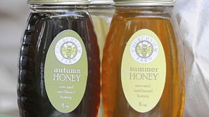 Churchview Farm offers three types of honey spring, summer and autumn.