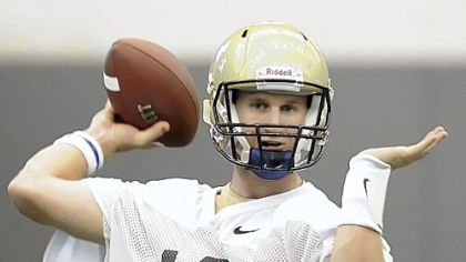 Pitt quarterback Pat Bostick has a little bit of coach in him already.