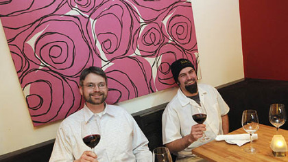 Paul Tebbets, left, and Chet Garland are the co-owners of the recently opened Toast Kitchen and wine Bar in Shadyside.