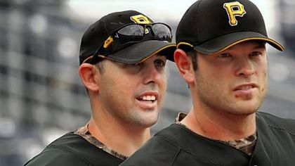 For at least another week, most of the Pirates talk will continue to center on Jack Wilson, left, and Freddy Sanchez.