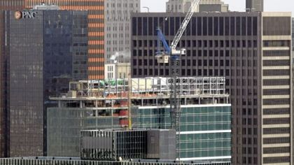 Three PNC, under construction along Fifth Avenue in this December picture, rises to join One PNC, right, and Two PNC, left.