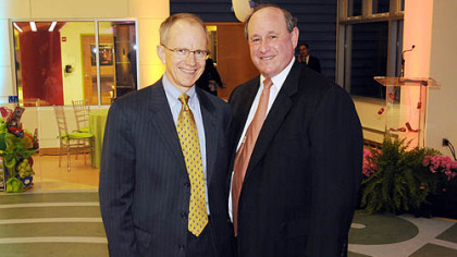 Children&#039;s CEO Roger Oxendale and Sy Holzer.