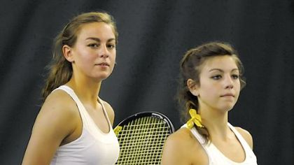 The Timko sisters: Karli, left, and Tanya of Chartiers-Houston.