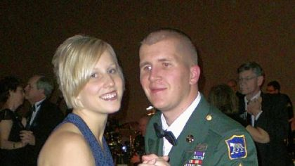 Sgt. Corey Briest with wife Jenny