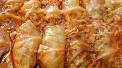 Finished cabbage rolls by Josephine Gresko.