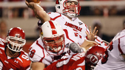 Louisville quarterback Justin Burke has thrown three touchdowns and four interceptions this season.