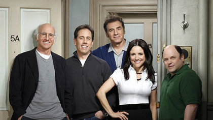 "Larry David, Jerry Seinfeld, Michael Richards, Julia Louis-Dreyfus, Jason Alexander will be on ""Curb Your Enthusiasm"" on Oct. 4."