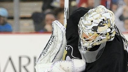 Penguins goaltender Marc-Andre Fleury has won seven of his nine career playoff series.