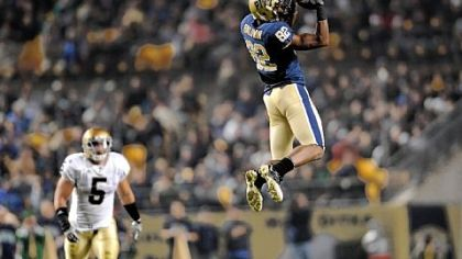 Pitt wide receiver Jonathan Baldwin was named the Big East offensive player of the week.