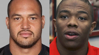Steelers LB James Farrior vs. Ravens RB Ray Rice