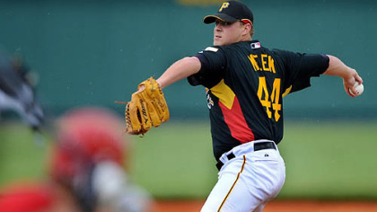 Pirates right hander Evan Meek