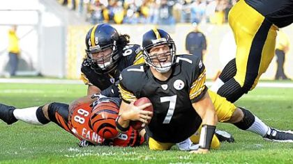 Steelers quarterback Ben Roethlisberger threw for 174 yards yesterday.