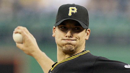 Pirates pitcher Charlie Morton throws against the Padres during the first inning of last night's game at PNC Park.