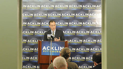 Mayoral candidate Kevin Acklin criticized Luke Ravenstahl on an advertisement about Pittsburgh's unemployment rate.