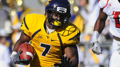 West Virginia running back Noel Devine is dealing with a left ankle injury.