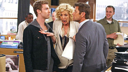 "Jon Foster, Jenna Elfman and Grant Show on CBS's ""Accidentally on Purpose."""