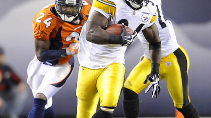 Steelers running back Rashard Mendenhall has run for an average of 105.6 yards the past five games.
