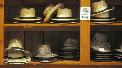 Jay Lehman founded his hardware store in Kidron, Ohio, in 1955 to serve a local Amish population. The store carries a variety of merchandise including haberdashery display.