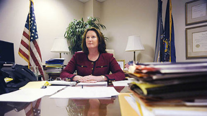 U.S. Attorney Mary Beth Buchanan inside her Grant Street office yesterday.
