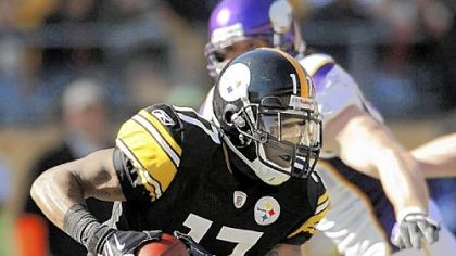 Steelers wide receiver Mike Wallace has caught five touchdown passes this season.