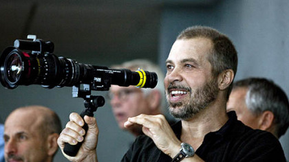 "Director Ed Zwick sets up a shot on the set of ""Love and Other Drugs"" in Pittsburgh."