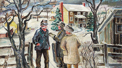 Artist Mary Martha Himler?s ?Rural Politics,? painted in 1955 and now in the collection of the Westmoreland Museum of American Art, evokes the kind of neighborhood visits, some where the topics were political, most where the topics were familial, that have always been a part of the holidays. We bring this to you, in the fourth year of a Post-Gazette tradition, to mark the blessings of the season and to wish our readers every happiness.