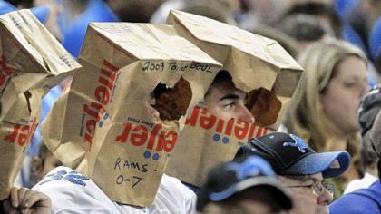 Will there be any grocery bags left in the Detroit area after the Browns and Lions get done playing at Ford Field?