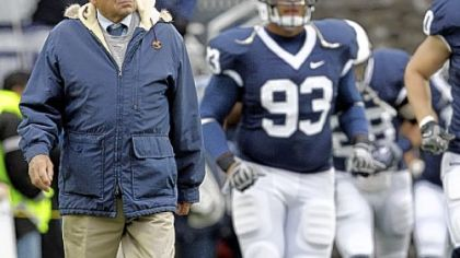 "Penn State coach Joe Paterno on his team's record: ""You know, 8-2 isn't a disaster."""