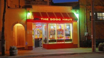 The warm glow of the The Dogg Haus was a lovely sight.