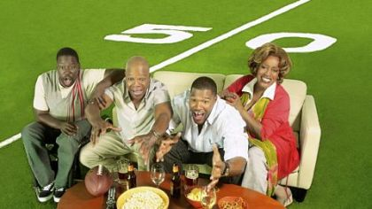 "Daryl Chill Mitchell, left, Carl Weathers, Michael Strahan and CCH Pounder star in ""Brothers."""