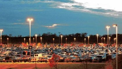 Pittsburgh International Airport has 13,200 spaces in its parking garage and surface lots.