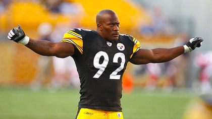"Steelers linebacker James Harrison on his team's playoff hopes: ""Go on a five-game skid, you can't expect too much to go good."""