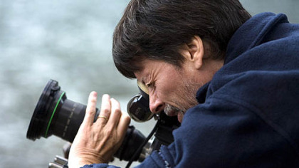 Ken Burns filming at Montana's Glacier National Park.