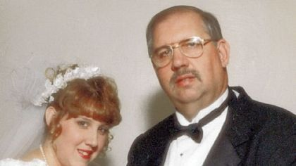 John Brenckle and his daughter, Amy Warrick, on her wedding day in 1997.