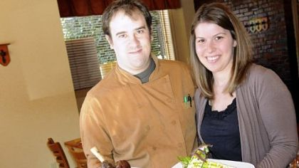 Executive chef Jacob Vandewark and general manager Erin Stern of Cornerstone Restaurant and Bar.