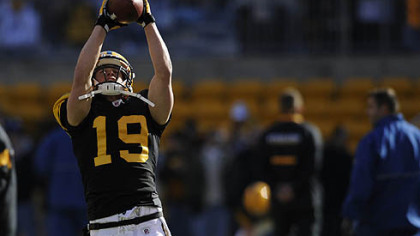 Steelers wide receiver Tyler Grisham had one reception for 14 yards in yesterday&#039;s 23-20 defeat of the Ravens at Heinz Field.