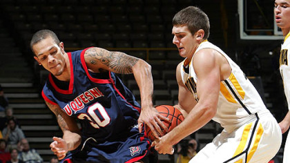 Duquesne guard Bill Clark on the Dukes&#039; defense: &quot;We have been a tougher team.&quot;