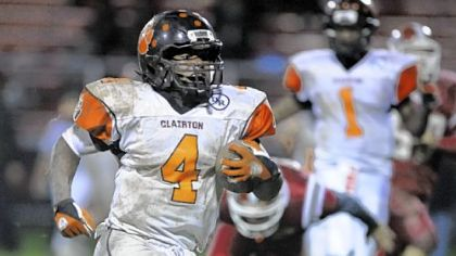 Clairton running back Deontae Howard.
