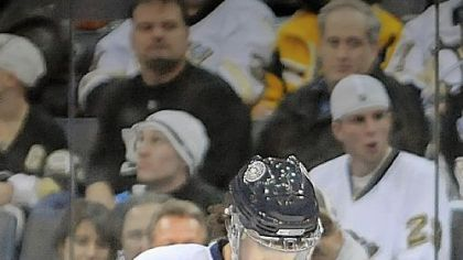 Evgeni Malkin waits out the game's final seconds.